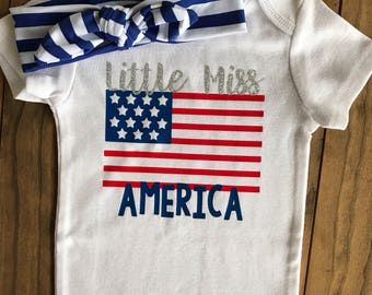 Little Miss America Bodysuit