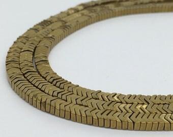 1Full Strand 3*2mm Gold  Hematite Beads,Hematite Gemstone Beads For Jewelry Making