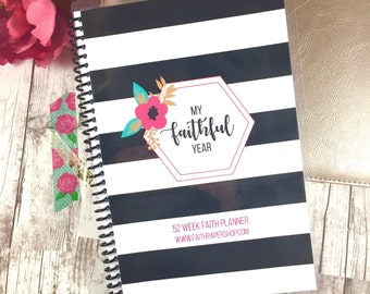 Faith Planner - Prayer Journal, Daily Devotional, Christian planner, Bible Study Notes, Gratitude Journal, Christian gifts