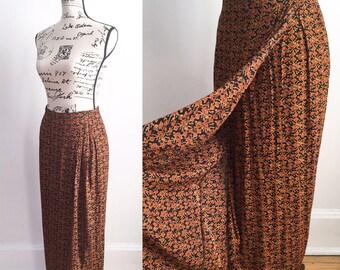 Vintage Wrap Skirt, 90s Skirt, Vintage Boho Skirt, Long Wrap Skirt, Vintage Maxi Skirt, Floral Maxi Skirt