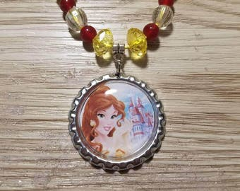10 Kits - Princess Belle Necklaces DIY Party Favors