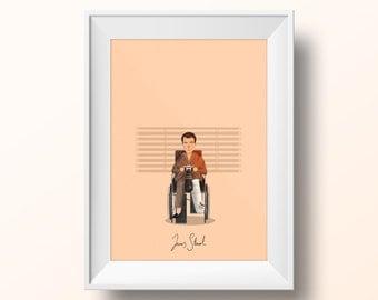 James Stewart - Rear Window Poster