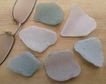 6 genuine sea glass pieces. Natural sea glass. Beach glass for various crafts.