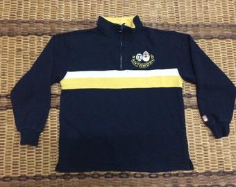 Vintage 90's Santa World Classic Design Skate Sweat Shirt Sweater Varsity Jacket Size M #A606