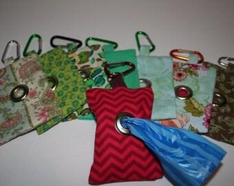 Dog Poop Bag Dispenser - Fabric - Patterned