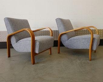 Set of Armchairs by Jindrich Halabala, Art Deco 1930's