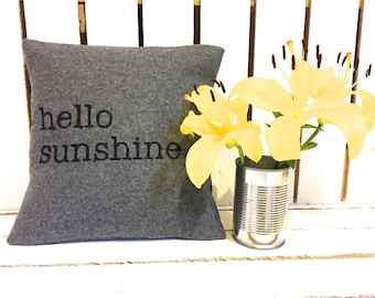 Hello Sunshine Cushion (small)