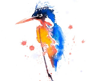 Kingfisher No.1 - Signed Print of my original watercolour painting