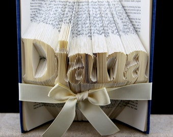 Custom Christmas Gifts Book Sculpture, Personalized Folded Book Art Christmas Gifts For Mom, Custom Christmas Gifts For Her, Teacher Gift