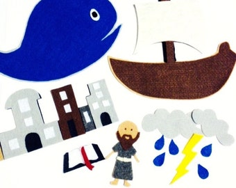 Jonah and the Whale Bible Felt Set**Sunday School/Homeschool**