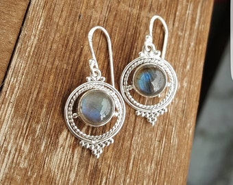 925 Sterling Silver earrings with Labradorite