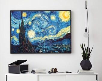 Van Gogh Print, Starry Night Painting, Van Gogh Starry Night, Fine Art Painting, Fine Art Gallery, Fine Art Giclee Canvas Print, 191