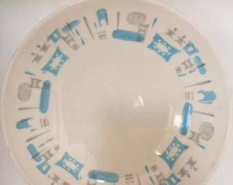 Featuring Mid Century atomic Blue heaven china  large bowls from the 50's
