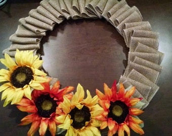 Sunflower Burlap wreath!