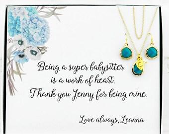 Gift for nanny Babysitter gift Nanny gift Personalized nanny gift Nanny birthday gift Babysitter birthday Daycare teacher gift Mother's day