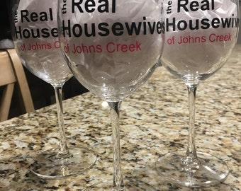 The Real Housewives Wine Glass