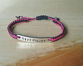 Girl Power Bracelet, Resist, Bracelet, Woven Bracelet, Feminism, Empowerment, Macrame Bracelet, Braided Bracelet, Knotted Bracelet