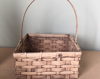 Square Basket with Handle Taupe Basket Gift Basket