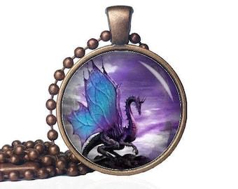 Winged Dragon - Majestic Dragon -  Guardian - Dragon Pendant - Dragon Jewelry - Mythical Jewelry - Dragon Gift - Dragon