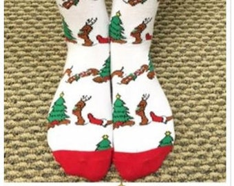 Dachshund Christmas Socks