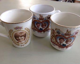 Collectable Royal  Wedding Mugs x 3