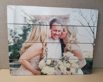 Your Wedding, Family & Special Occassion Photos Brought to Life on Beautifully Handcrafted, Ready to Hang Birch Wood Slats
