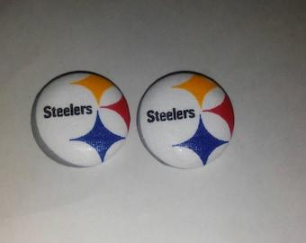 NFL Fashion, Steelers Fan, Button Earrings, Favorite Team