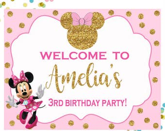Minnie Mouse Printable Welcome Sign