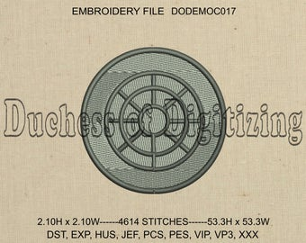 Manhole Cover Embroidery Design, Manhole Cover Embroidery File, Sewer, Waterworks, DODEMOC017