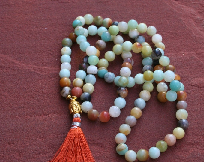 Hiresh small dark Buddha Mala, Malas, Japa Mala, 108 Bead Mala, Mala Mala, Mantra Recitation, Yoga Jewelry, Bead Pearls, Long Necklace, Buddha Jewels