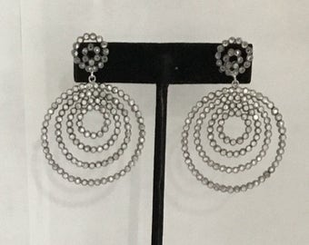 white topaz sterling silver earring