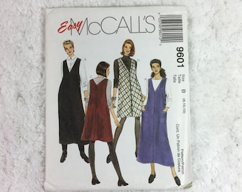 McCall's 9601 Sewing Pattern Misses' Jumper in Two Lengths Size 8-12 / easy McCall's / ladies' fashion / jumper dress / women's jumper dress