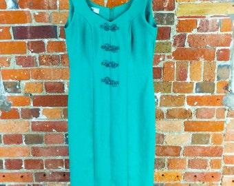 Vintage C&A Green Midi Dress size 10