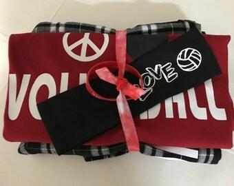 Peace Love Volleyball  PJ Set