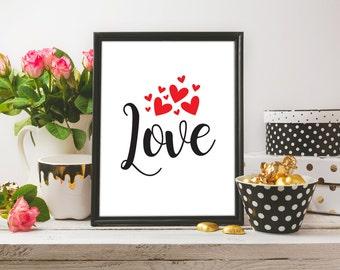 Love Quote Printable / Love Quote Print | Love Art | Home Print | Home Wall Decor | Printable Wall Art | Typographical Print