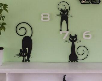 Cat lover gift, Unique wall art ideas, Cat decor, Cat wall art, wood cat decor, wall decor, housewarming gift, cat art, cat gifts, wooden
