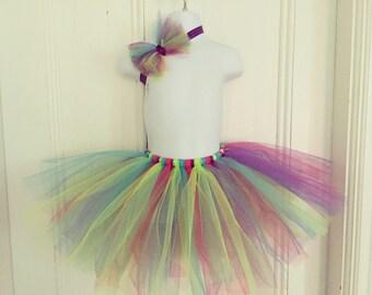 Colorful Tutu and Matching Headband