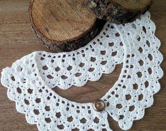 crochet necklace collar, Camel Peter Pan collar, Detachable collar, Lace collar, Crochet Jewelry,Women accessory