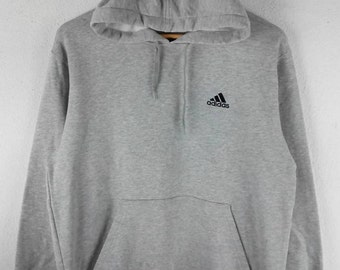RARE!!! Adidas Equipment Small Logo Embroidery Grey Colour Hoodies Hip Hop Swag S Size