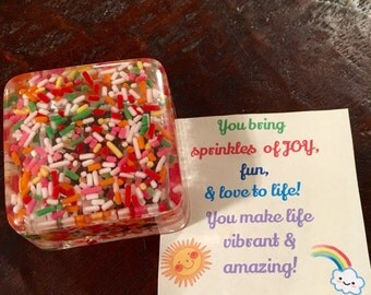 sprinkle trinket box, fun jewelry box, gift