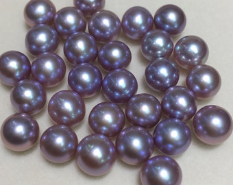 New pearl,AAAA,6-6.5mm Perfect Round Freshwater Pearls,natural purple  loose pearls,wholesale undrilled pearls