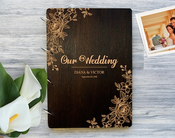 Wedding Photo Album. Personalized Photo Album Custom Wedding Gift Mr and Mrs Wooden Photobook Wedding Gift Ideas Gift for Couple Photobook