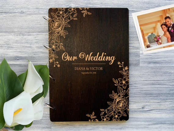 Wedding photo album personalized photo album custom wedding - Customiser album photo ...