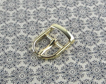 Gold Pin Buckle 5/8 inch (16mm) , Center Bar Buckle, Purse Strap Buckle, Belt Buckle 6 pieces