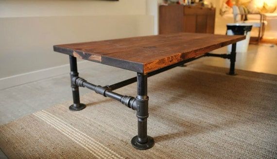The locker 39 s diy iron pipe coffee table by for Coffee table kit