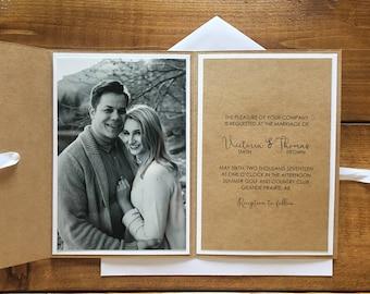 Rustic Photo Wedding Invitation // Rustic Wedding Invitation // Custom Wedding Invitation