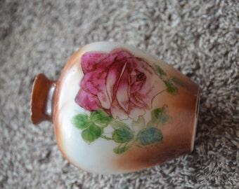 Painted Milk Glass Vase