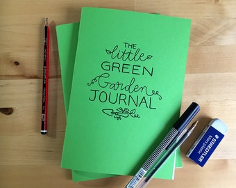 The Little Green Garden Journal, A5, made with recycled paper and card.
