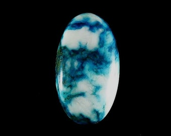 Natural Tibetan Turquoise Oval Shape Cabochon Jewelry Making Loose Gemstone Cabochon Gemstone Semi Precious Stones 26Cts 31X17X6 mm B-0706