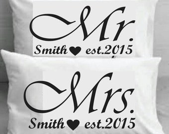 Couples pillowcases